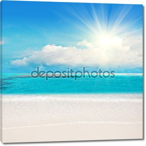 Карибский пляж с белоснежным песком