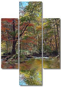 Падение сезоне с красивой реки