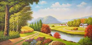 Живописный пейзаж с рекой