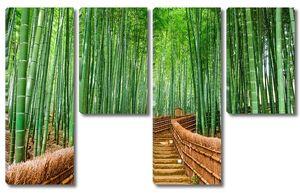 Лестница в бамбуковом саду