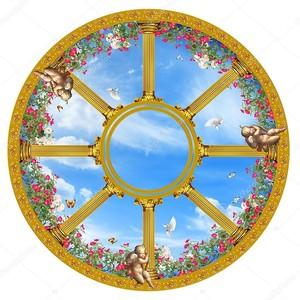 Круглый плафон с ангелами