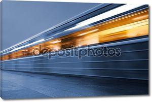 метро. подземный поезд