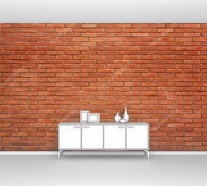 Текстура  рыжей кирпичной стены