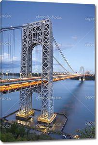 Мост Джорджа Вашингтона в Сумерках
