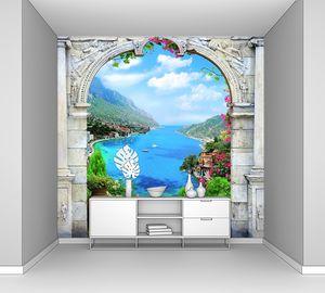 Терраса с аркой и видом на море