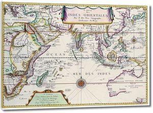 Обычная старинная карта