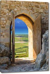 Деревянная открытая арка
