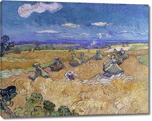 Ван Гог. Скирды пшеницы и жнец