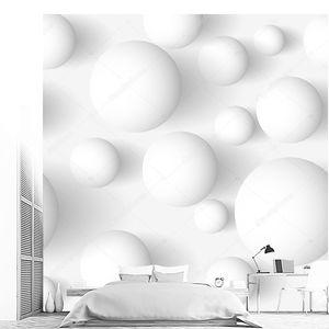 Бесшовные абстрактной 3D сферические белый фон