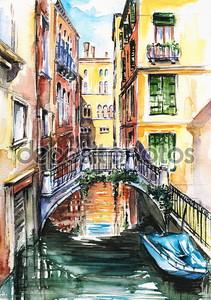 Вид дома в Венеции