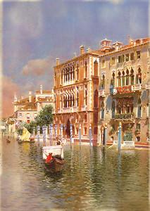 Прекрасная набережная в Венеции