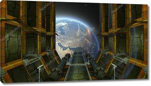 Space station / 3D CG rendering of the space station. Элементы этого изображения, предоставленного НАСА