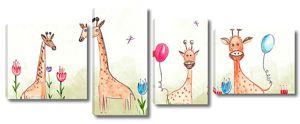 Жирафики с шариками