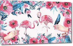 Фламинго в маках