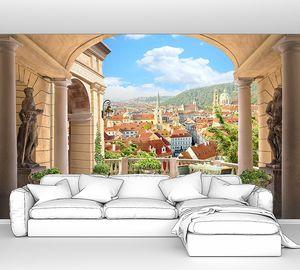 Вид с террасы на итальянский городок