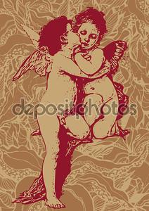 Абстрактный цветочный фон с Валентина Ангелы