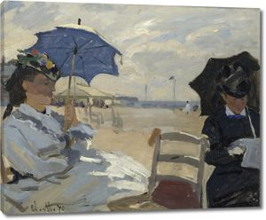Моне Клод. Пляж в Трувиль, 1870