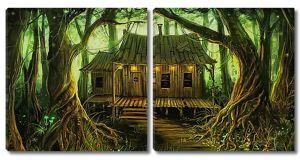 Домик в сказочном лесу
