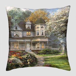 Красивый дом в  живописном парке