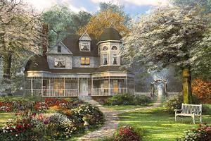 Красивый дом в парке