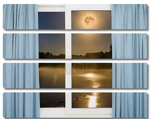 вид из окна полной Луны