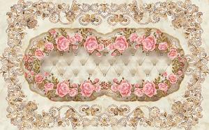 Рамочка из венка роз