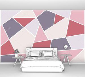 Разноцветные полигональные плитки, геометрические фигуры
