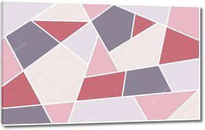 Абстрактная иллюстрация, разноцветные полигональные плитки, геометрические фигуры