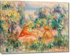 Ренуар. Две женщины в пейзаже, 1918