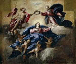 Себастиан Эррера Барнуэво. Коронование Девы Марии