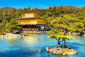 Kinkakuji (Золотой павильон), Киото, Япония.