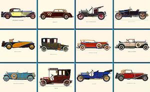 Плакат ретро автомобилей