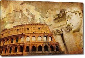 Великой Римской империи - концептуальные коллаж в стиле ретро