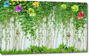 Вьющиеся растения по стене