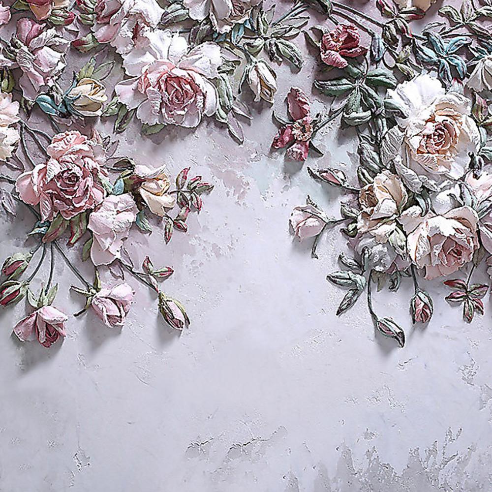 Фотообои «Выпуклые розы на стене», купить в интернет-магазине «Первое Ателье»™