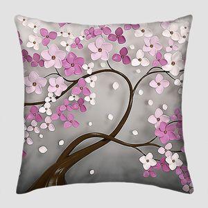 Гибкое дерево с розовыми цветами