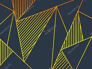 Орнамент из заштрихованных треугольников