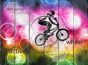 BMX велосипедистов Иллюстрация