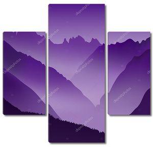 Безжизненные пейзаж с огромной горы