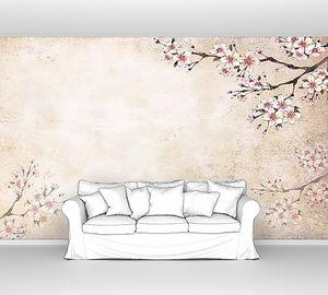 Фреска с сакурой