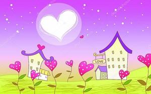 Открытка на день Святого Валентина, смешные дома
