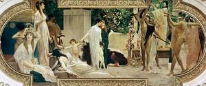 Климт Густав. Бродячий греческий театр (фреска)