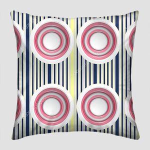 Вертикальные синие и желтые линии, симметричные белые и розовые кольца
