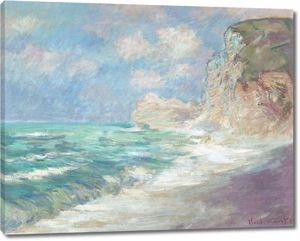 Моне Клод. На побережье, волнение на море, 1886