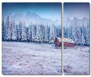 Мороз в горной деревне.