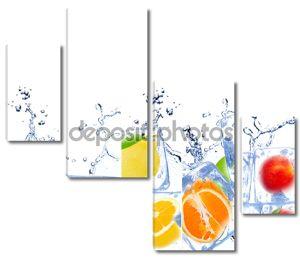 Лед кубе фруктов