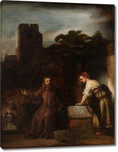 Приписывается Рембрандту. Христос и самаритянка