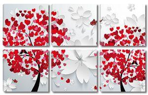 Два дерева из сердечек