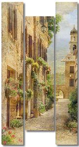 Красивая улица с растениями