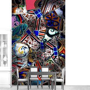 Абстрактный рисунок с яркими элементами